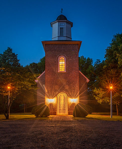 Hopewell Wedding Chapel at night - INOLA Blue Ridge