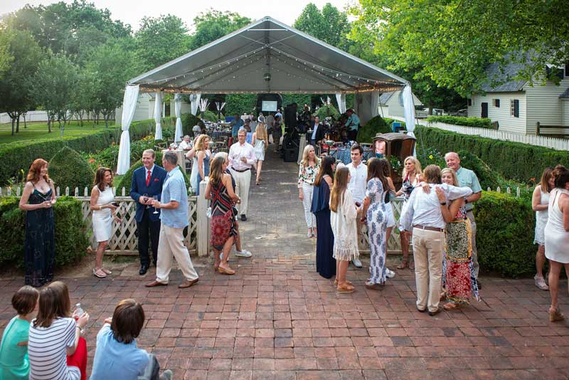 Daytime Wedding in the Orchard Pavilion