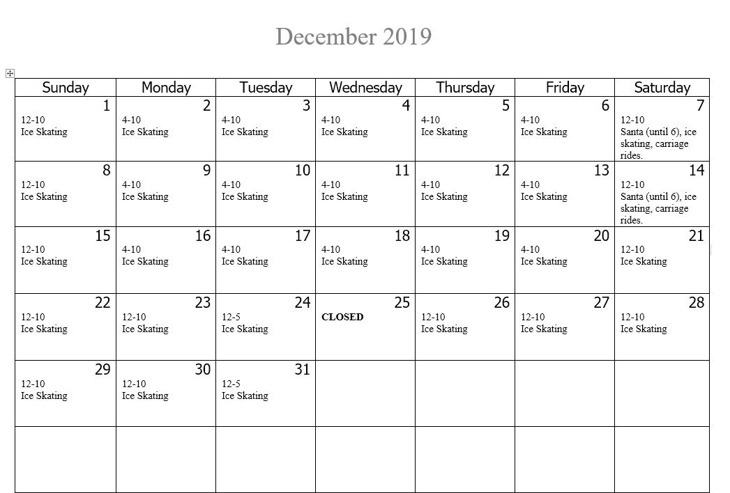 Holidays at INOLA December 2019