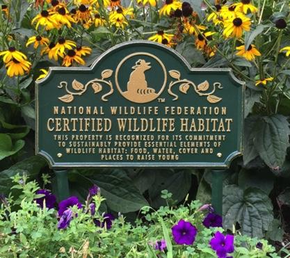 INOLA designated Certified Wildlife Habitat